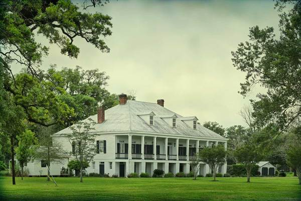 St. Joseph Plantation, east corner of main house, Vacherie, LA