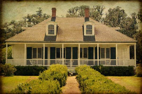 Evergreen Plantation, Acadian cottage, colored