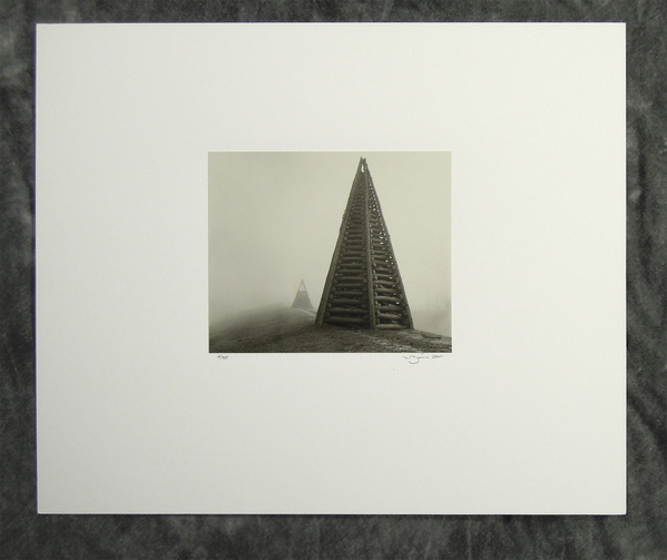 Bonfire tower study #1, toned silver-gelatin print